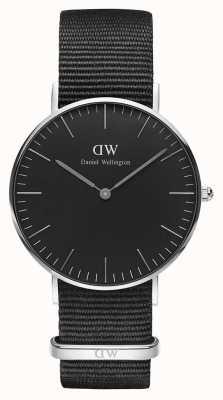 Daniel Wellington Unisex Classic Cornwall 36mm Black DW00100151