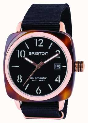 Briston Mens Clubmaster Classic Acetate Black 13240.PRA.T.1.NB