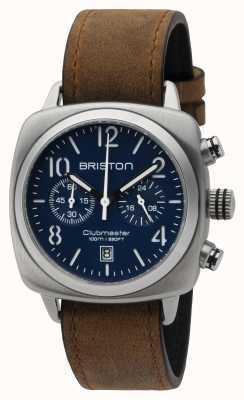 Briston Mens Clubmaster Classic Steel Chrono Matte Blue 16140.S.C.15.LVBR