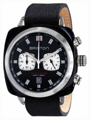 Briston Mens Clubmaster Sport Acetate Chrono Black 15142.SA.BS.1.LSB