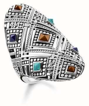 "Thomas Sabo Silver RING ""AFRICA ORNAMENTS"" TR2128-361-7-54"