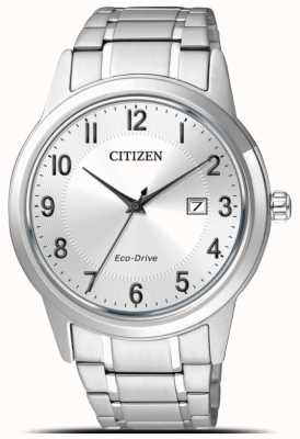 Citizen Mens Stainless Steel Eco-Drive Date Sports AW1231-58B