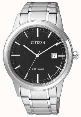 Citizen Mens Eco-Drive Stainless Steel Black Dial Sports watch AW1231-58E