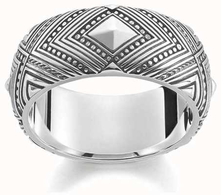 Thomas Sabo Silver Ring AFRICA ORNAMENTS TR2127-413-39-56