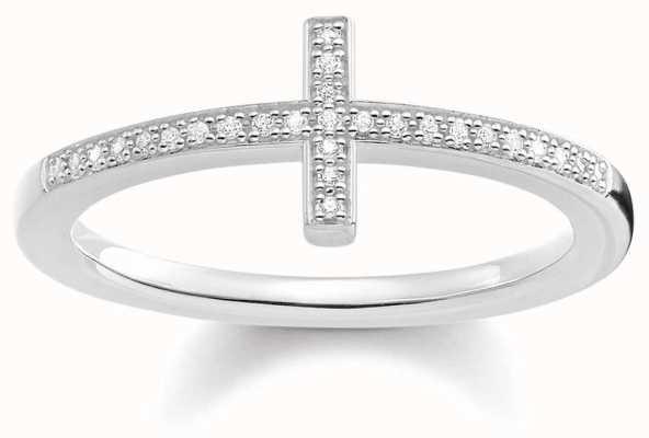 Thomas Sabo Dia Ring White Stone Ring Size EU 54 (UK N) D_TR0028-725-14-45