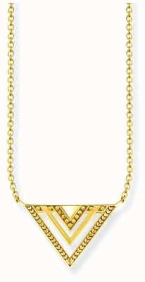 Thomas Sabo Glam & Soul Gold Plated Africa Triangle Necklace KE1568-413-39-L45v