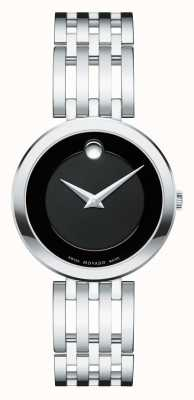 Movado Women's Esperanza Stainless Steel Black Dial 0607051