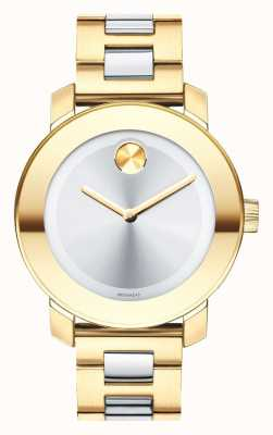 Movado bold Midsize Yellow Gold Ion-plated K1 Crystal 3600129