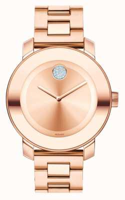 Movado bold Midsize Rose Gold Ion-plated K1 Crystal 3600086