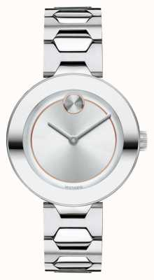 Movado BOLD Mid-size Silver Womens K1 Crystal 3600381