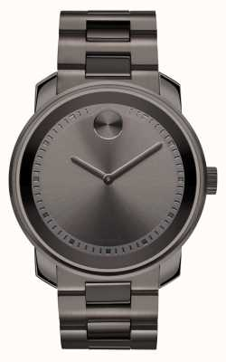 Movado bold Large Gunmetal Gray Ion-plated K1 Crystal 3600259