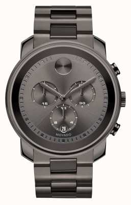 Movado bold Large Chronograph Gunmetal Gray Ion-plated 3600277