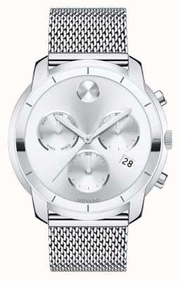 Movado BOLD Chronograph Stainless Steel Mesh Bracelet 3600371