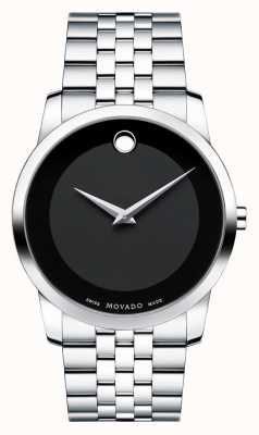 Movado Men's Museum Classic Stainless Steel Black Museum Dial 0606504