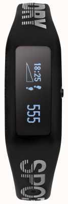 Superdry Unisex Fitness Tracker Black Silicone Strap SYG202B