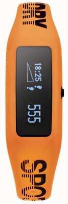 Superdry Unisex Fitness Tracker Orange Silicone Strap SYG202O