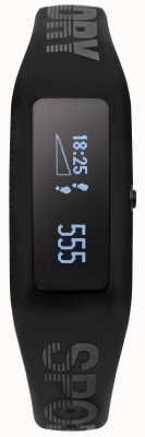 Superdry Unisex Fitness Tracker Black Silicone Strap SYG202BB