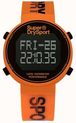 Superdry Unisex Digi Pedometer Orange Silicone Strap SYG203O