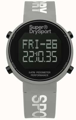 Superdry Unisex Digi Pedometer Grey Silicone Strap SYL203E