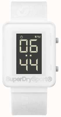 Superdry Unisex Gym Sprint Digi White Silicone Strap SYG204W
