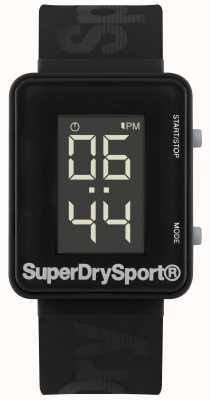 Superdry Unisex Gym Sprint Digi Black Silicone Strap SYG204B