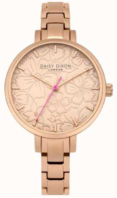 Daisy Dixon Womans Leona Floral Print Dial Rose Gold DD043RGM