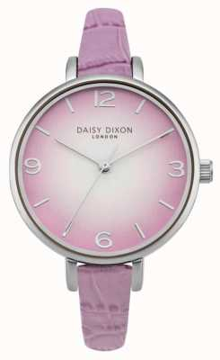 Daisy Dixon Womans Millie Lilac Croc Effect DD041V