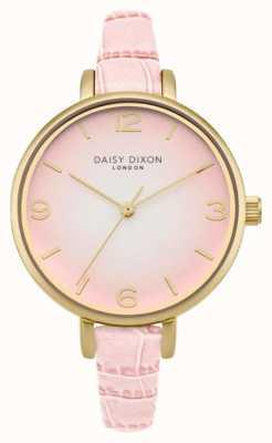 Daisy Dixon Womans Millie Pink Croc Effect DD041P