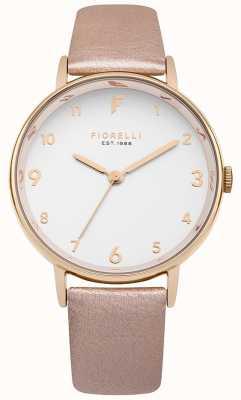 Fiorelli Womans Rose Gold Metallic Strap White Dial FO037RG