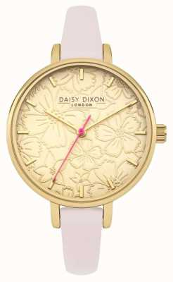 Daisy Dixon Womans Phoebe Floral Printed Dial Gold DD042G