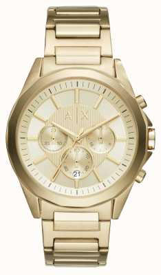 Armani Exchange Mens Gold Toned Chronograph AX2602