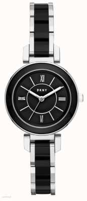 DKNY Womans Ellington Stainless Steel Black Ceramic NY2590
