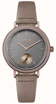 Barbour Womans Dovedale Grey Dial Brown Leather Strap BB061GYPP
