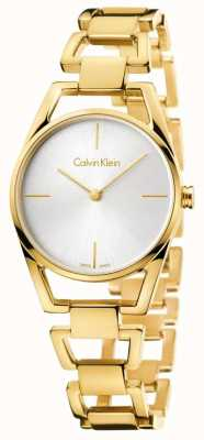 Calvin Klein Womans Dainty Yellow Gold PVD Plated K7L23546