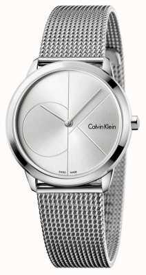 Calvin Klein Womans Minimal Stainless Steel Mesh K3M2212Z