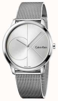 Calvin Klein Mens Minimal Silver Steel Mesh Strap K3M2112Z