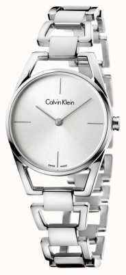 Calvin Klein Womans Dainty Stainless Steel Silver Dial K7L23146