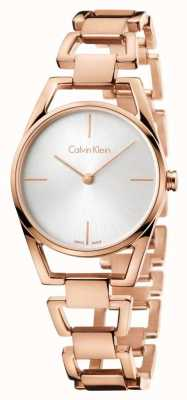 Calvin Klein Womans Dainty Rose Gold Plated K7L23646