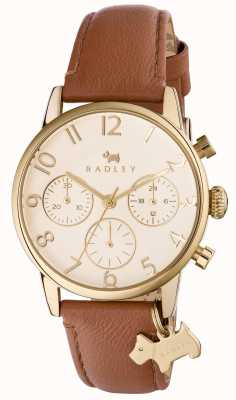 Radley Womans Electric Avenue Brown Leather Chrono RY2460