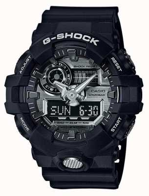 Casio Mens G-shock Analogue Digital Chronograph Navy GA-710-1AER
