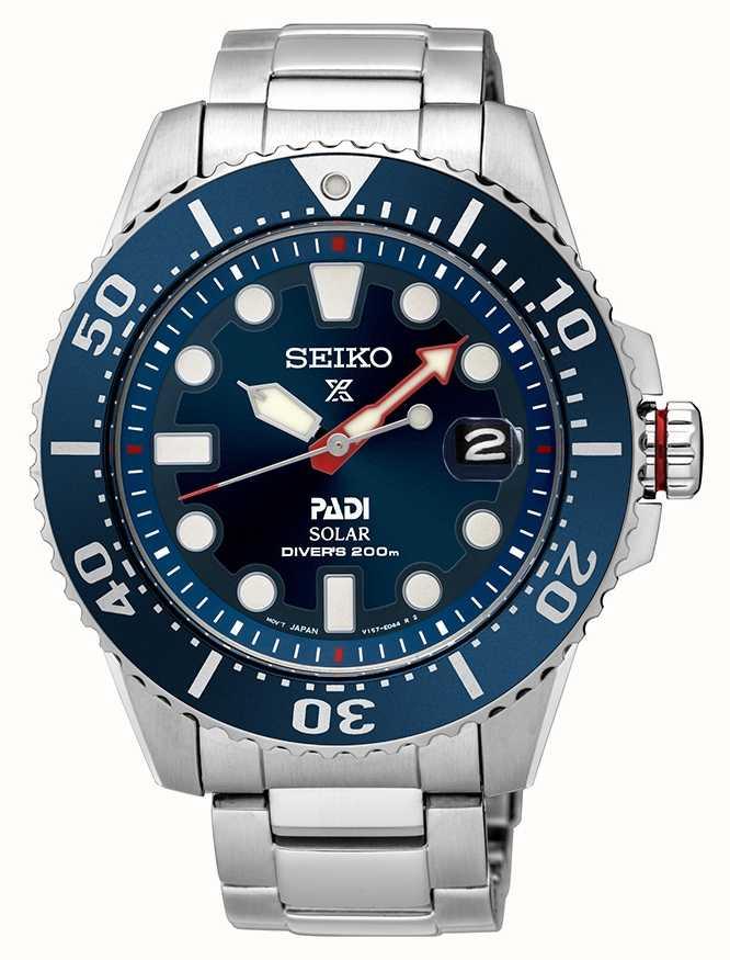 Seiko Mens PADI Prospex Solar Blue Dial