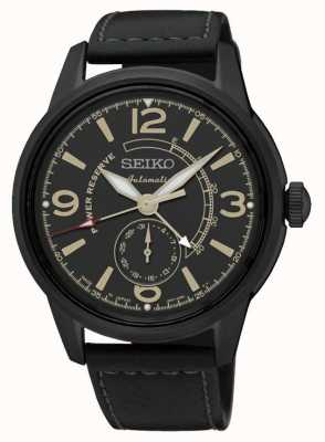 Seiko Mens Presage Automatic With Power Reserve Black SSA339J1