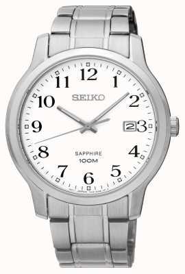 Seiko Mens Classic Sapphire Silver White SGEH67P1