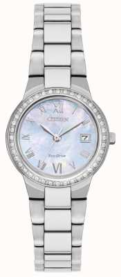 Citizen Womens Eco-drive Crystal Case Watch EW1990-58D
