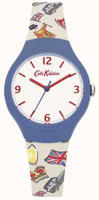 Cath Kidston Womans White British Graphic Silicone Strap CKL026CU