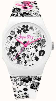 Superdry Womans Urban Ditsy Floral Black And White Printed SYL177WB
