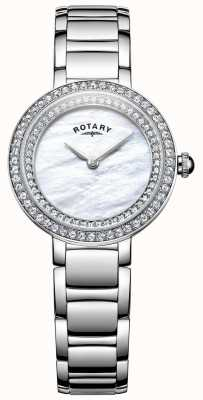 Rotary Womans Stone Set Cocktail Watch LB05085/41L