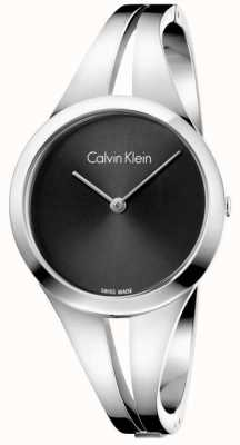 Calvin Klein Womans Addict Steel Bangle Black Dial M K7W2M111
