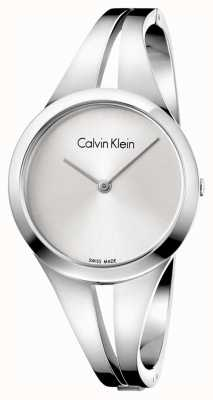 Calvin Klein Womans Addict Steel Bangle Silver Dial M K7W2M116