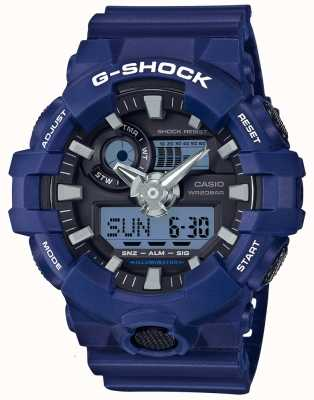 Casio Mens G-Shock Alarm Chronograph Blue GA-700-2AER